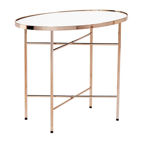Bobai Oval Mirrored Accent Table