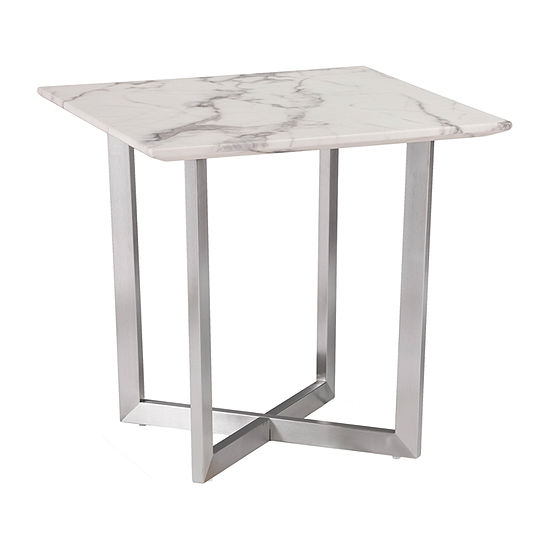Bourwin Faux Marble End Table