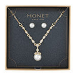 Monet Jewelry 2-pc. White Simulated Pearl Jewelry Set