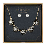 Monet Jewelry 2-pc. Black Simulated Pearl Jewelry Set