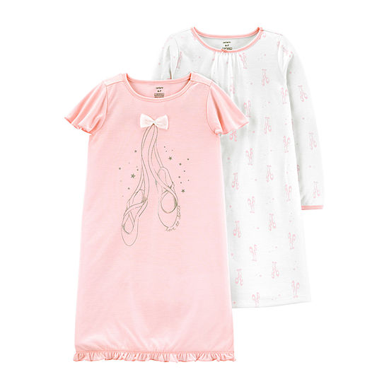 Carter's Girls Knit Crew Neck Nightgown