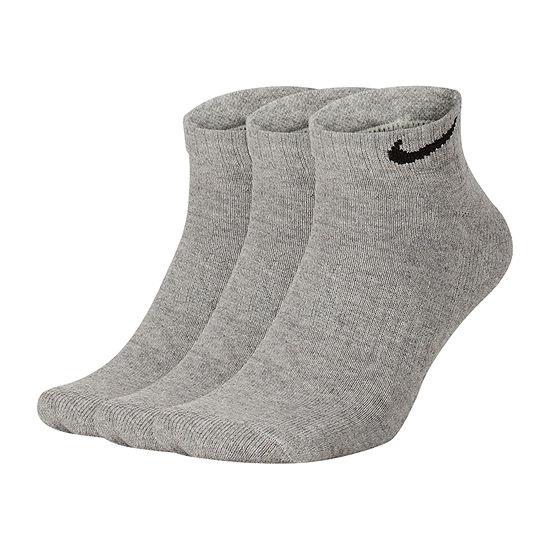 Nike 3 Pair Cushion Everyday Low Cut Socks-Mens