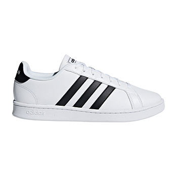Definición Atajos temporal  adidas Grand Court Mens Lace-up Sneakers, Color: White Black - JCPenney