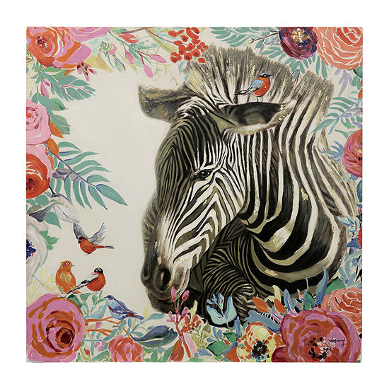 Stylecraft Black And White Zebra Canvas Art