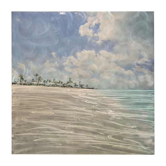 Stylecraft Coastal Blue And Gray Aluminum Canvas Art