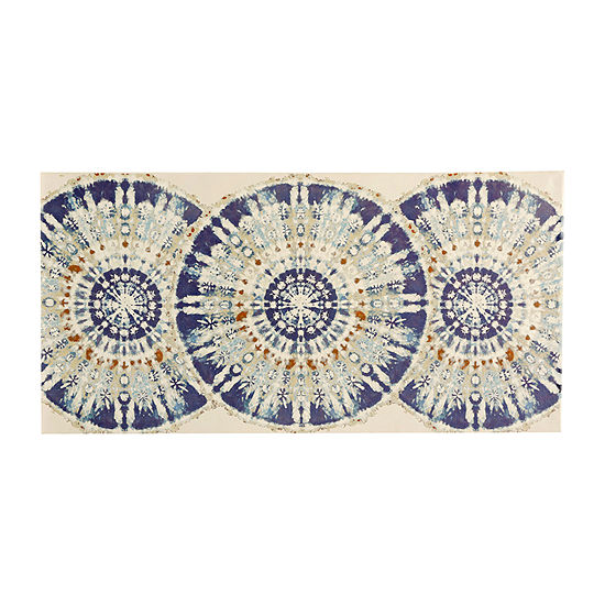 Stylecraft Kaleidoscope Blue And Cream Canvas Art