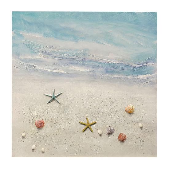 Stylecraft Tide Jewels Blue And Cream Canvas Art