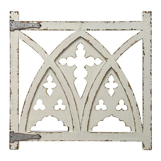Stylecraft Antique White And Galvanized Modern Metal Wall Art