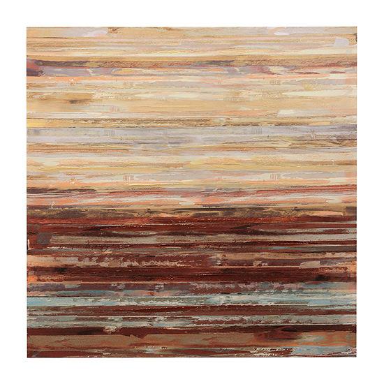 Stylecraft 40 In. Earth Tone Wood Canvas Art