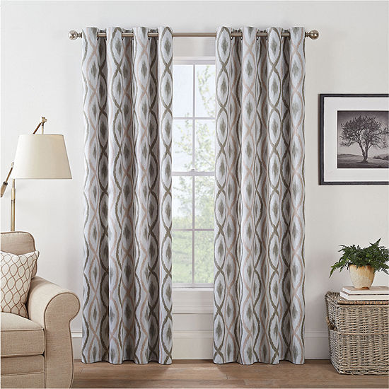 Eclipse Basel Geo Energy Saving Blackout Grommet-Top Curtain Panel