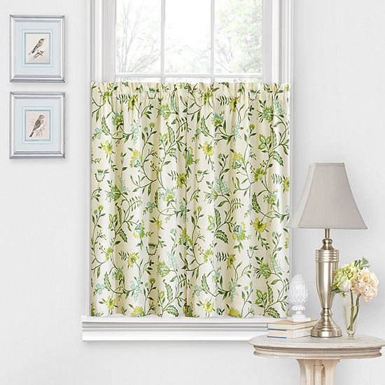Waverly Carolina Crewel Rod-Pocket Window Tiers