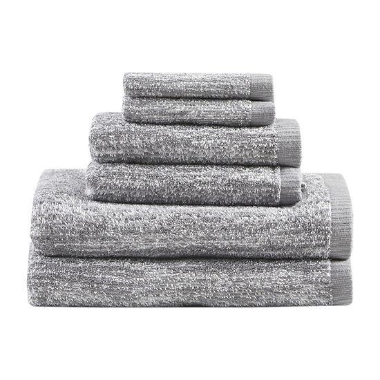 Madison Park Signature Melange 6 Pc Solid Bath Towel Set