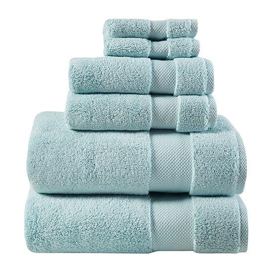 Madison Park Signature Splendor 6 Pc Solid Bath Towel Set