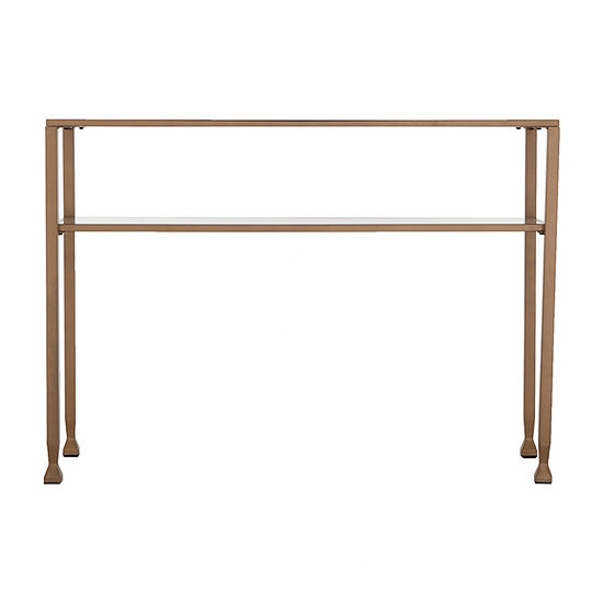 Brana Metal and Glass Console Table