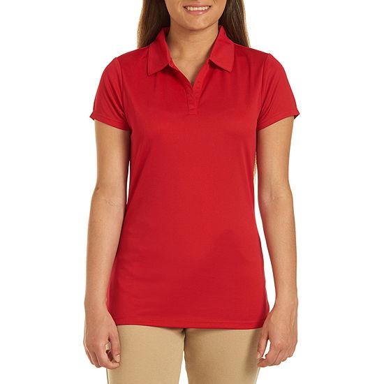 IZOD Womens Short Sleeve Performance Polo Shirt Juniors