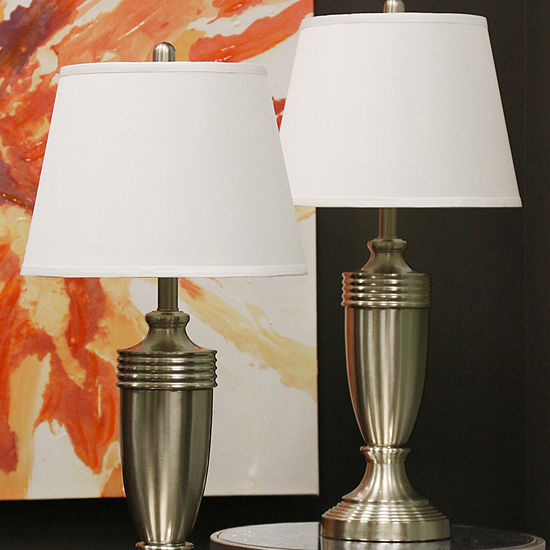 Stylecraft Steel 2-pc. Lamp Set