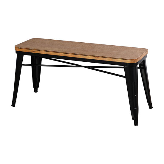 Stylecraft Black Metal and Wood Benches