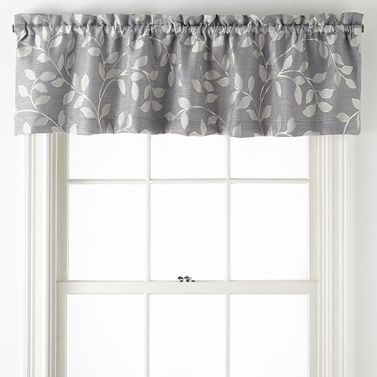 Liz Claiborne Quinn Leaf Rod Pocket Single Tailored Valance