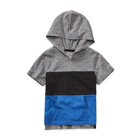 Okie Dokie Boys Short Sleeve Hooded Tee-Toddler, 5t , Blue
