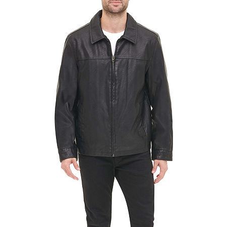 Men's Vintage Jackets & Coats Dockers Faux Leather James Dean Jacket X-large  Black $69.99 AT vintagedancer.com