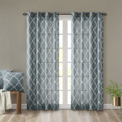 Madison Park Westmont Energy Saving Light-Filtering Grommet-Top Single Patio Door Curtain