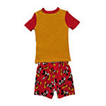 Disney Collection Little & Big Girls 2-pc. Mickey Mouse Shorts Pajama Set