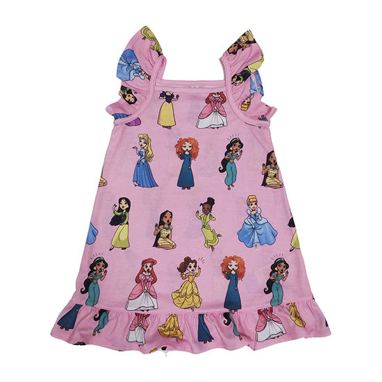 Disney Collection Little & Big Girls Disney Princess Sleeveless Square Neck Nightshirt