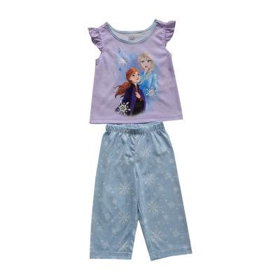 Disney Collection Little & Big Girls 2-pc. Frozen Pajama Set