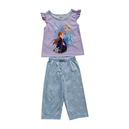 Disney Collection Little & Big Girls 2-pc. Frozen Pajama Set