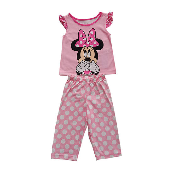 Disney Collection Little & Big Girls 2-pc. Minnie Mouse Pajama Set