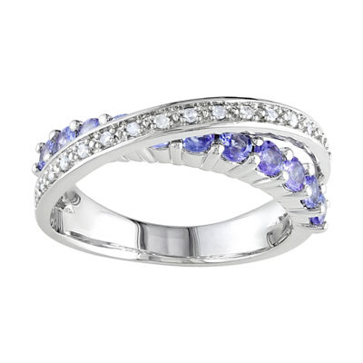 Sterling Silver Tanzanite & Diamond-Accent Ring