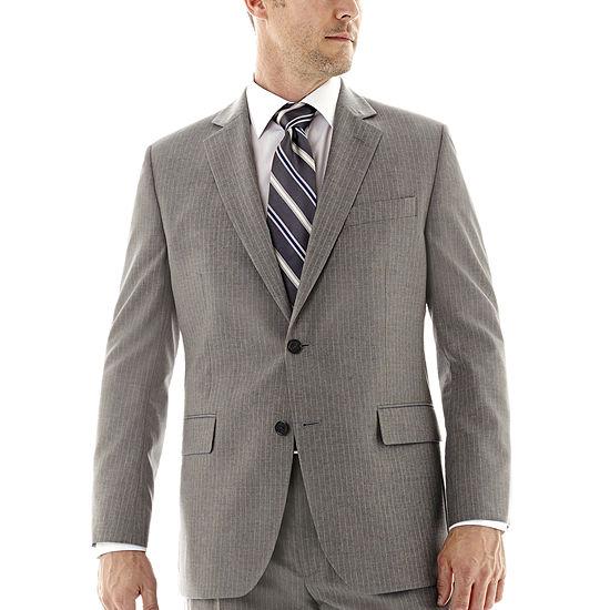 Stafford® Travel Gray Stripe Suit Jacket