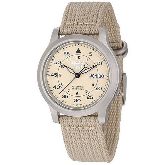 Seiko Mens Brown Strap Watch-Snk803
