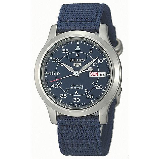 Seiko Mens Blue Strap Watch-Snk807