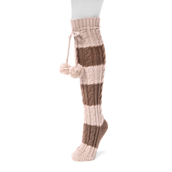 Muk Luks Cable Knee High Socks
