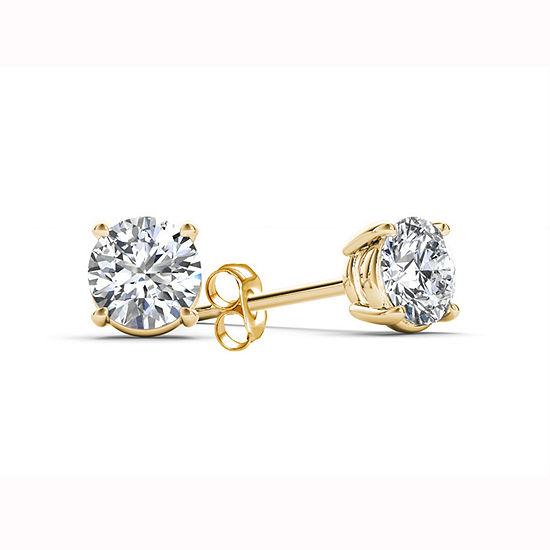 3/8 CT. T.W. Genuine White Diamond 14K Gold Stud Earrings