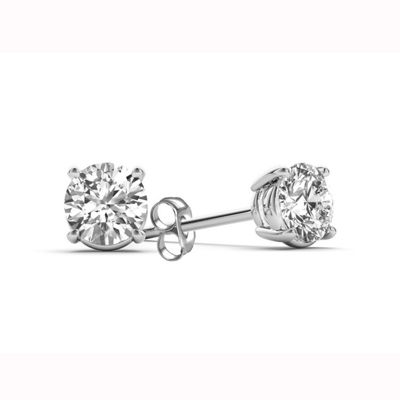Classic Collection 1/2 CT. T.W. Genuine White Diamond 10K Gold Stud Earrings