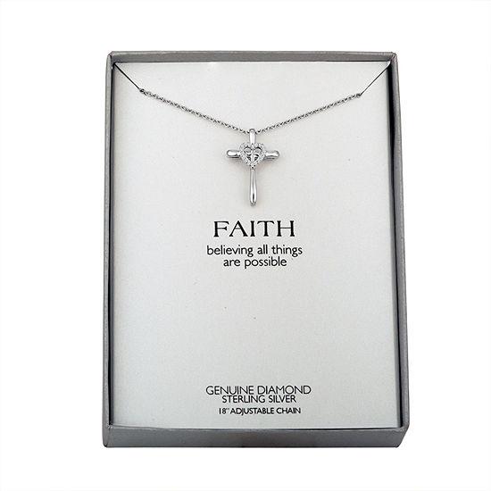 Women's Diamond Accent Sterling Silver Pendant Necklace