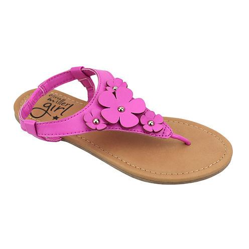 OMGirl Zinia Floral Elastic-Strap Girls Sandals - Little Kids/Big Kids