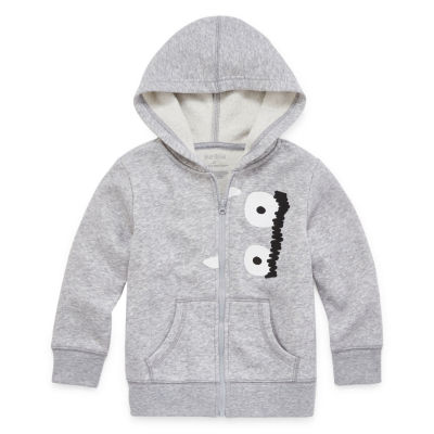 Okie Dokie Fleece Boys Cuffed Sleeve Hoodie-Toddler