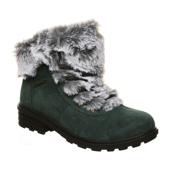 Bearpaw Womens Serenity Flat Heel Winter Boots