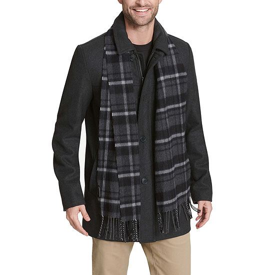 Dockers Wool Blend Walking Coat with Scarf
