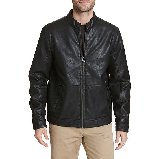 Dockers Faux Leather Midweight Motorcycle Jacket