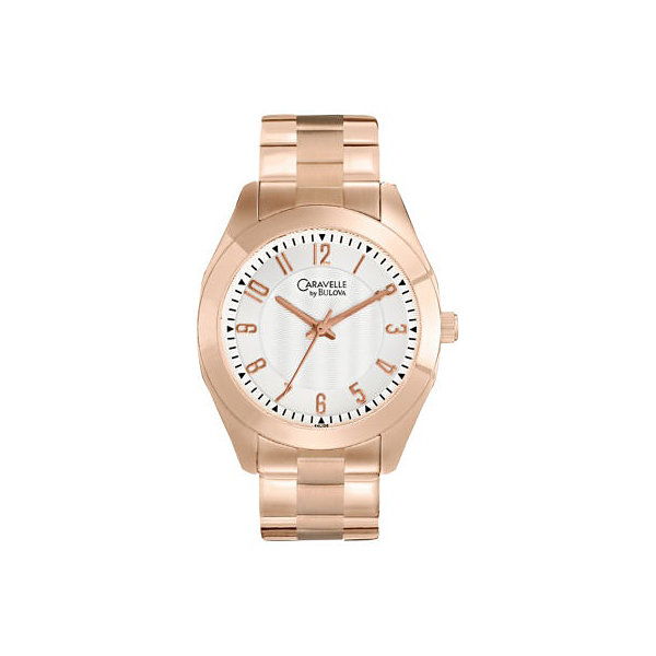 Caravelle by Bulova® Womens Rose-Tone Watch