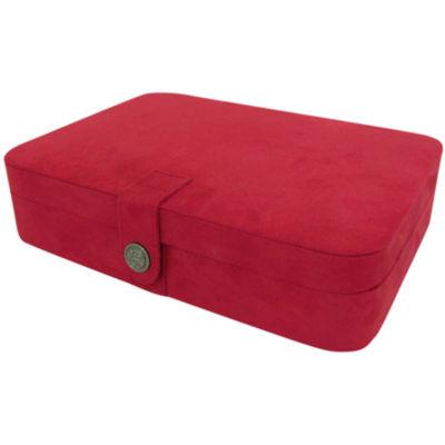 Red Fabric Jewelry Holder