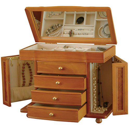 Oak Finish Jewelry Box