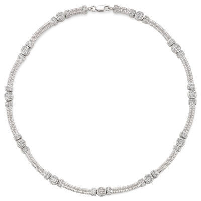 Diamond Fascination™ Cable Necklace Sterling