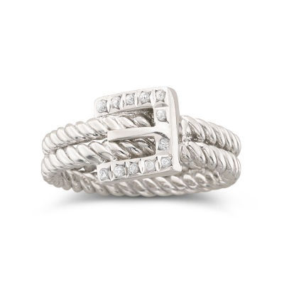 Diamond Fascination™ Buckle Ring Sterling