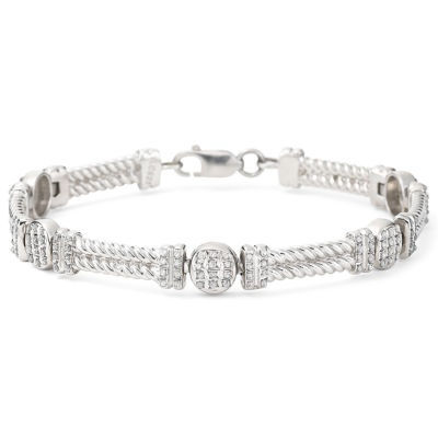 Diamond Fascination™ Cable Bracelet Sterling