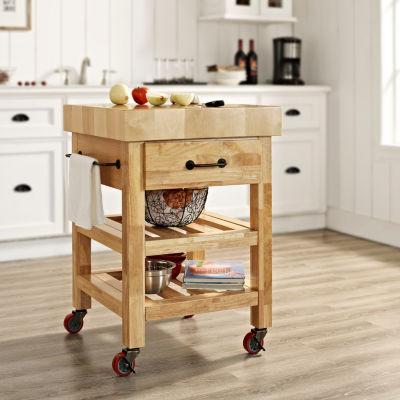 Marvelous Butcher Block Kitchen Cart